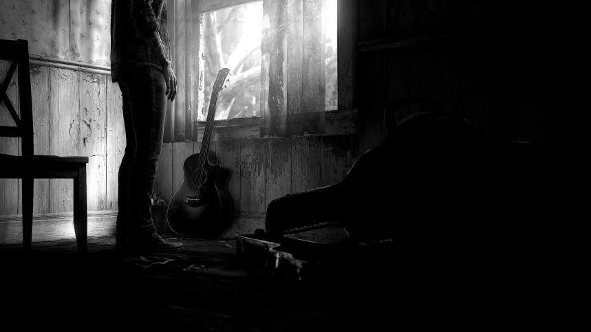 ellie leaves guitar behind
